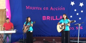 Angie and Anna lead worship at Brilla 5 in